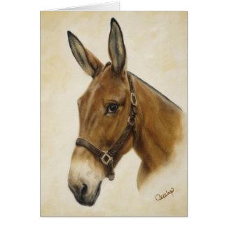Cartão da mula