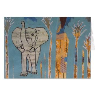 Cartão da música do elefante