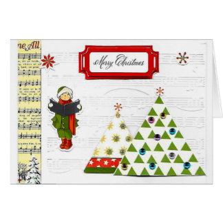 Cartão da música do Natal