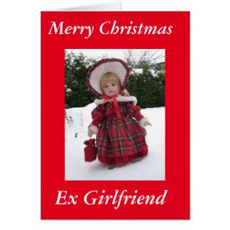 """Cartão Da """"namorada ex do Xmas feliz"""