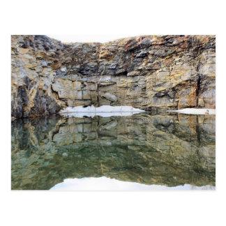 Cartão da natureza da reflexão 1 da parede da ped cartão postal