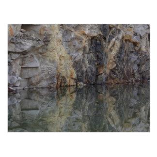 Cartão da natureza da reflexão 3 da parede da ped cartoes postais