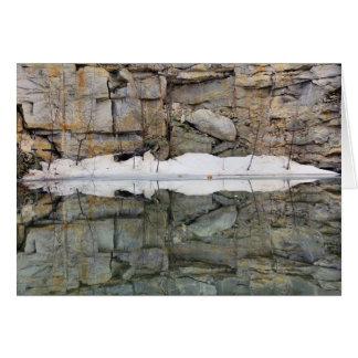Cartão da natureza das reflexões 2 da parede da p
