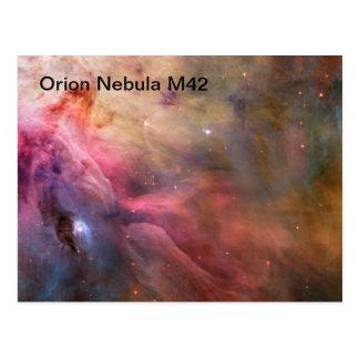 cartão da nebulosa de orion