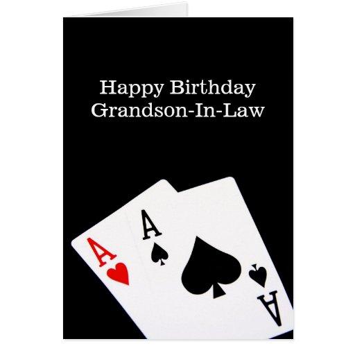 Cartão da Neto-Em-Lei do feliz aniversario
