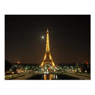 Cartão da noite da torre Eiffel @