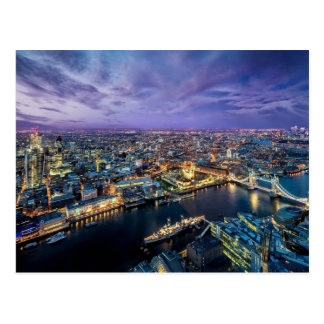 Cartão da noite de Londres Cartão Postal