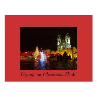 Cartão da noite de Natal de Praga