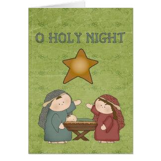Cartão da noite do azevinho da coleção O do Natal