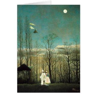 Cartão da noite do carnaval de Henri Rousseau