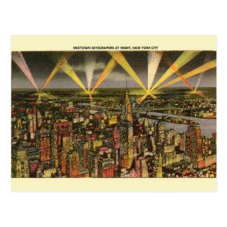 Cartão da noite dos arranha-céus da Nova Iorque do