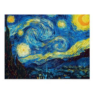 Cartão da noite estrelado de Van Gogh Cartoes Postais