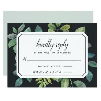 Cartão da noite RSVP de Botanica