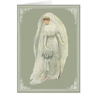 Cartão da noiva de Edwardian do vintage