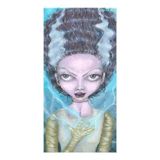 Cartão da noiva de Frankenstein por Charmaine Cartão Com Foto