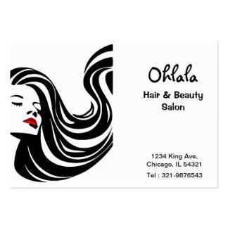 Cartão da nomeação do salão de beleza do cabelo cartão de visita grande
