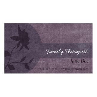 Cartão da nomeação do terapeuta da família cartão de visita