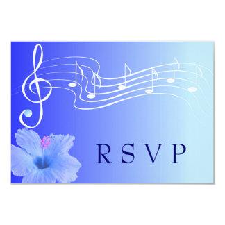 Cartão da nota musical & do hibiscus RSVP Convite 8.89 X 12.7cm