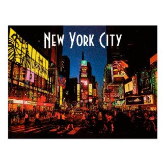 Cartão da Nova Iorque (néon) Cartão Postal