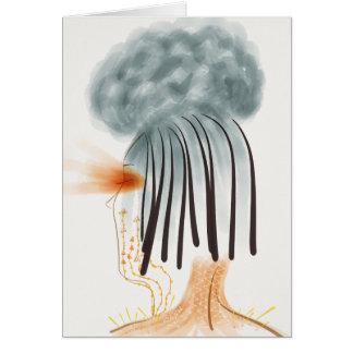 Cartão da nuvem da enxaqueca