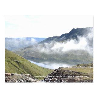 Cartão da nuvem de Snowdonia