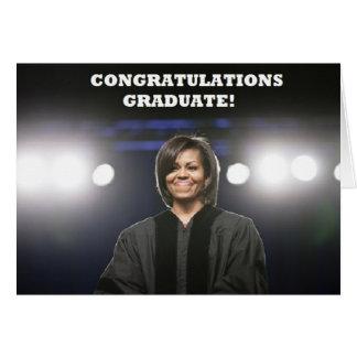 Cartão da Obama-Graduação de Michelle