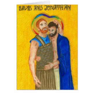 Cartão da ocasião de Jonathan e de David