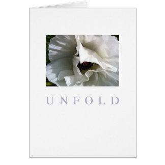 Cartão da ocasião: Unfold