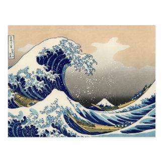 Cartão da onda do japonês