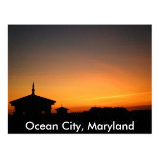 Cartão da opinião da cidade do oceano