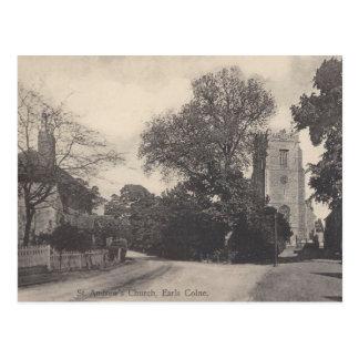 Cartão da opinião da igreja de Colne dos condes do