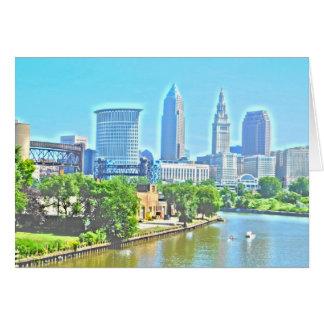 Cartão da opinião de Cleveland, o Rio Ohio