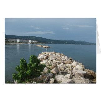 Cartão da opinião do mar de Jamaica