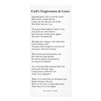 Cartão da oração da remissão e da benevolência do  10.16 x 22.86cm panfleto