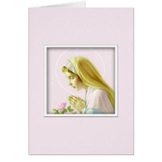 Cartão da oração da Virgem Maria