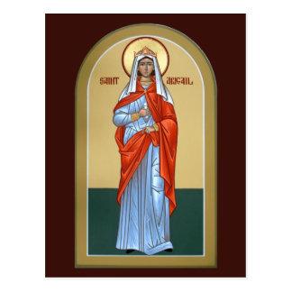 Cartão da oração de Abigail do santo