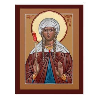 Cartão da oração de Genevieve do santo Cartão Postal