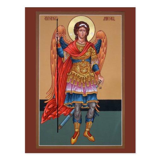 Cartão da oração de Michael do arcanjo Cartão Postal