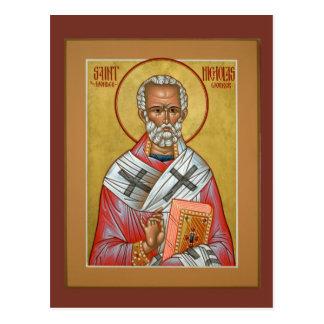 Cartão da oração de Nicholas do santo