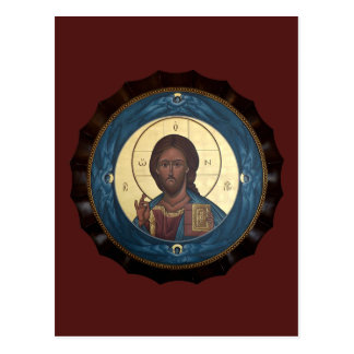Cartão da oração de Pantocrator do cristo
