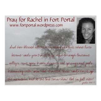 Cartão da oração de Rachels