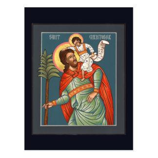 Cartão da oração de St Christopher