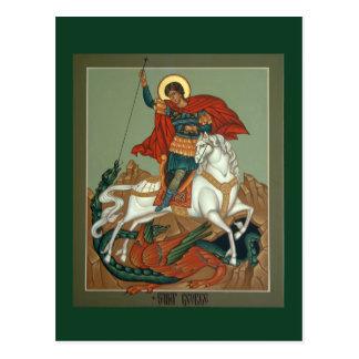 Cartão da oração de St George Cartão Postal