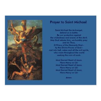 Cartão da oração de St Michael