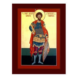 Cartão da oração de Theodore do santo