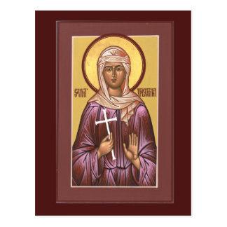 Cartão da oração de Valentina do santo