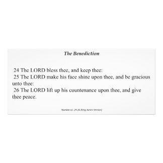 Cartão da oração do Benediction 10.16 X 22.86cm Panfleto