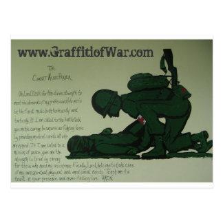 Cartão da oração do médico do combate