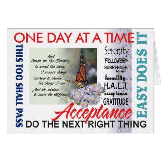 cartão da oração e das inspirações da serenidade