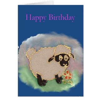 Cartão da ovelha do feliz aniversario